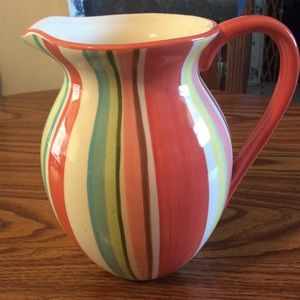 Vintage pitcher stripped colorized +